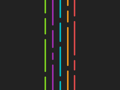 Random colorful dark clean