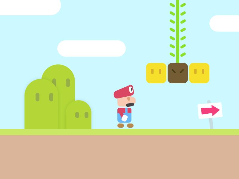 Mario colorful illustration simple game mario