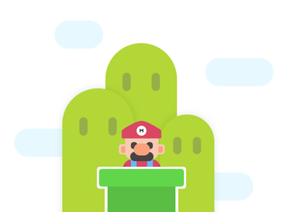 Mario colorful illustration simple game mario