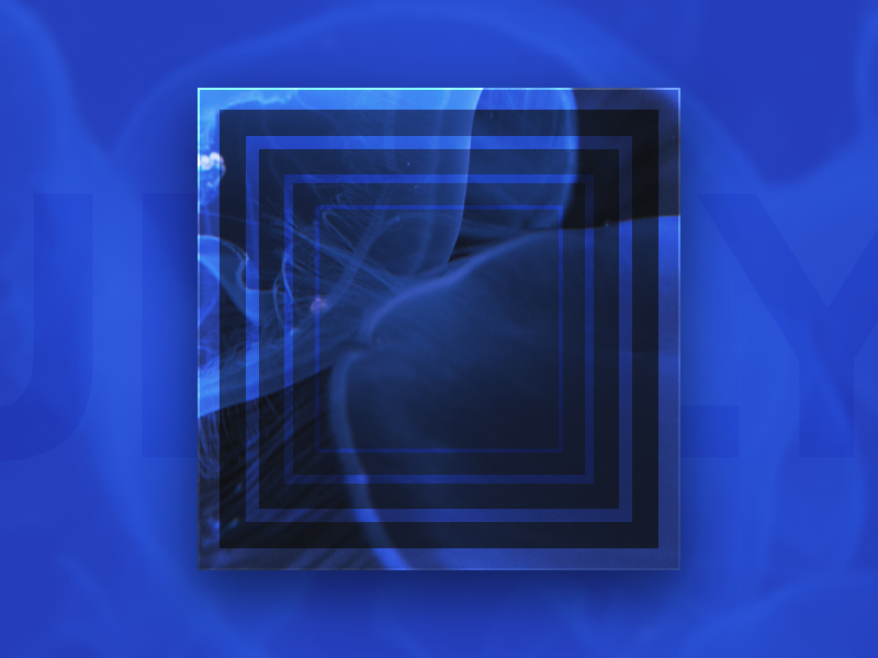 Jellyfish geometric blue jellyfish