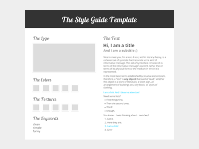 The Style Guide Template by Erick Mazer - Dribbble