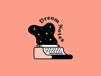 Dream Notes vector icon identity app logo dream graphic design illustration brand logo