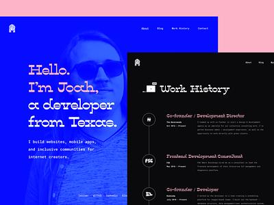 Developer Website type identity websites layout icon developer brand website