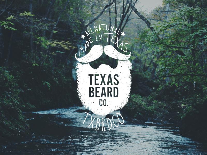 Texas Beard Company logo branding hand drawn identity beard