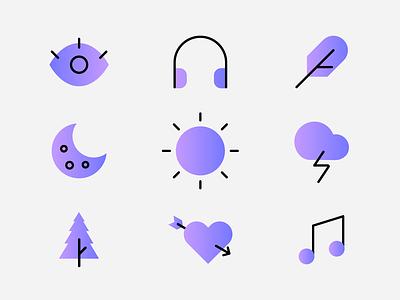 Icon Set illustration color gradients icons