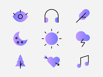 Icon Set illustration color gradients icons