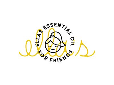 Ellas type letting script identity brand logo