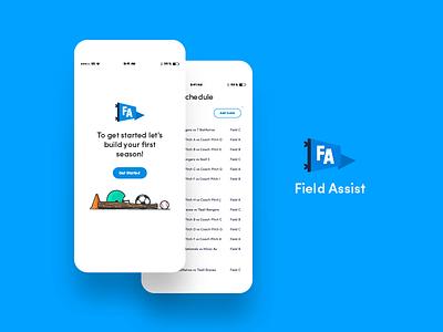 Field Assist interface brand schedule sports ux ui app