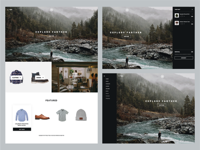Places web layout website theme