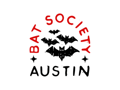 Austin Bat Society austin vector hand drawn typography logo illustration brand