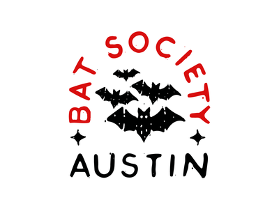 Austin Bat Society austin vector hand drawn typography logo illustration brand