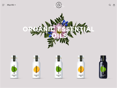 Ellas essential oil beauty layout website brand
