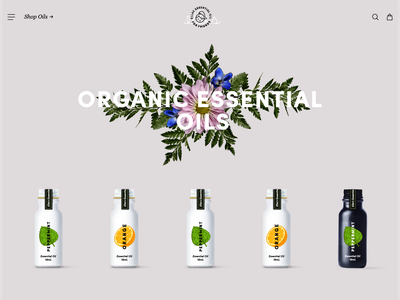Ellas essential oil beauty layout website brand
