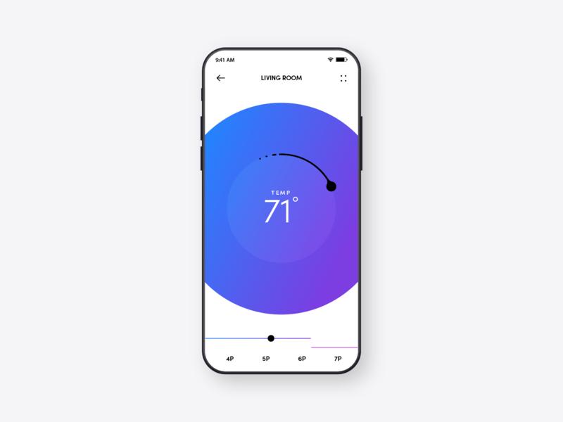 Thermostat app color uiux mobile app mobile thermostat