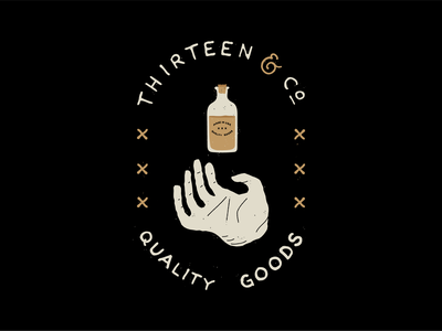 13 & Co typography type apothecary hand lettering handdrawn brand illustration