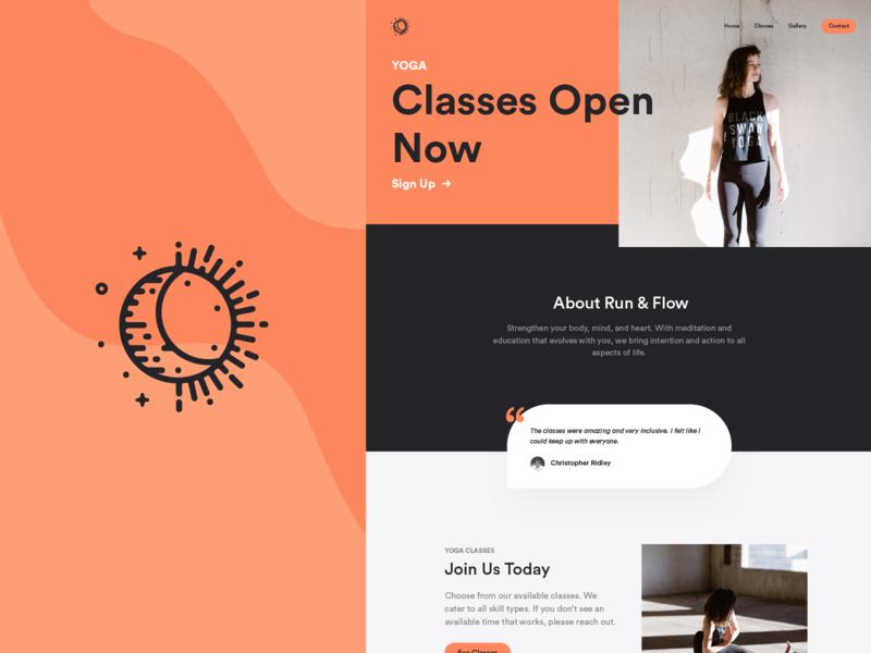 Yoga Client branding yoga identity website logo brand