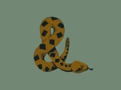 Amper-Snake snake graphic ampersand lettering art lettering illustration