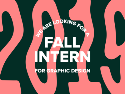 Intern color typography layout graphic