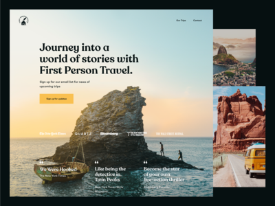 First Person Travel Website