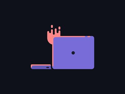 Burn it down fire computer graphic design logo icon color illustration