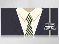 greeting card in business style