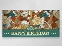 Greeting card in floral style