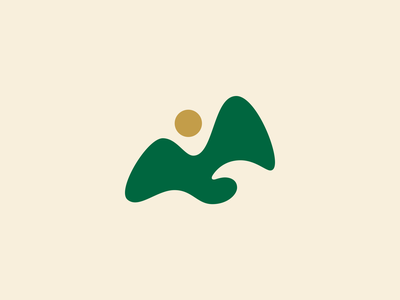 Tropical Logo volcano tourism beach jungle tropical hawaii wave nature water mountain logo