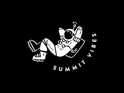 s u m m i t — v i b e s illustration vector sci-fi chill summit spaceman space denver colorado