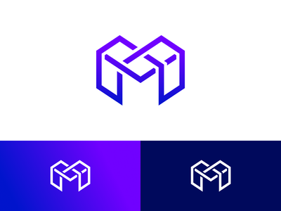 M logo x3 monogram purple logo m