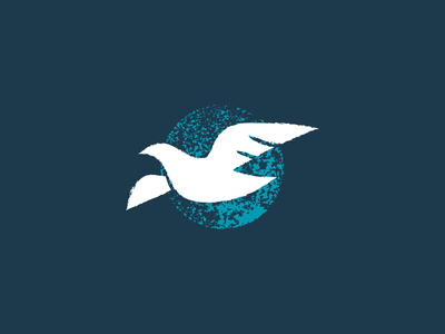 Dove brush texture bird fly peace icon nature grunge dove