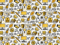 School Icons - Pattern
