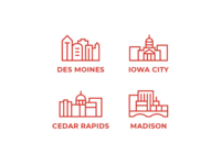 Midwestern Cities Icons