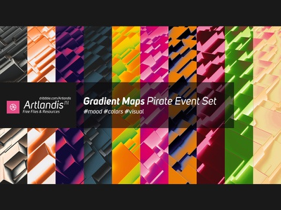 Free Gradient Maps - Pirate Event Set set photoshop maps gradient free