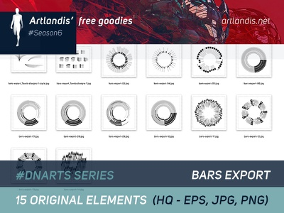 DNArts Series - Bars Export  (free vectorial) illustrator diagram data vectorial free