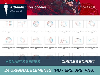 DNArts Series - Circles (free vectorial) diagram data free goodies illustrator vectorial free