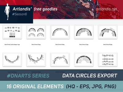 DNArts Series - Data Circles - (free vectorial)