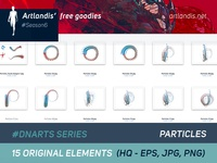 DNArts Series - Particles  (free vectorial)