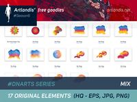 DNArts Series - Mix (free vectorial)