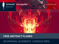 36 free generative abstract flames (HQ)