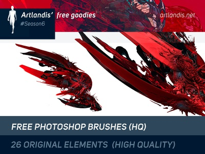 26 Free HQ Photoshop Brushes illustration effects abstract free goodies creative commons mars iterative design generative design generative art photoshop brush photoshop high quality free