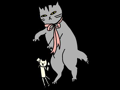 Play animals drawing illustration cat cats