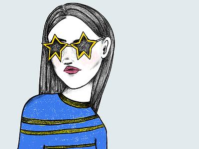 Not Bright drawings digital art drawing girl illustration mentalhealth summer girl illustration