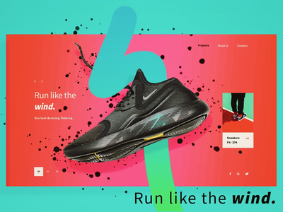 Bold Shoe Landing Page e-commerce landingpage productdesihn uidesign ui illustration graphicdesign design