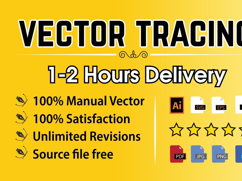 I will vector tracing image or logo to vectorize within 2 hours vector graphic art vectors vector illustration logos vector tracing raster to vector logo to vector vectorart logo illustration vector
