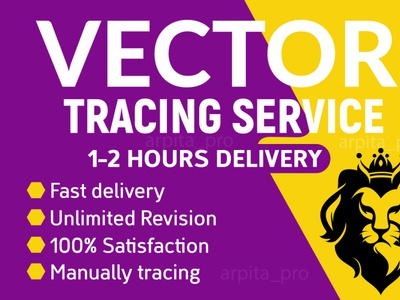 I will do image or logo to vector tracing within 2 hours vector artworks vector art business card design vector illustration vector tracing raster to vector logo to vector vectorart design vector business branding