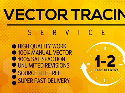 I will do vector tracing within 2 hours vector artwork vector tracing vectors vector art logodesign raster to vector vector illustration vectorart illustration vector design logo to vector business branding