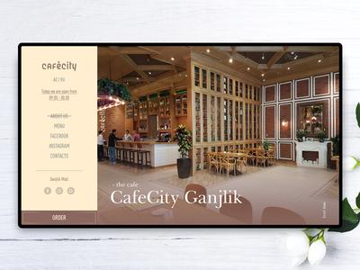 CafeCity - Concept Homepage