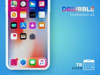 Dribbble Invitation x2