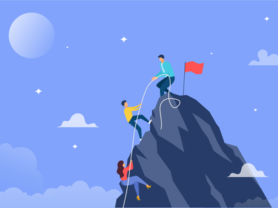 Success Illustration mac illustration adobe concept illustraion art vector ui dribbble design
