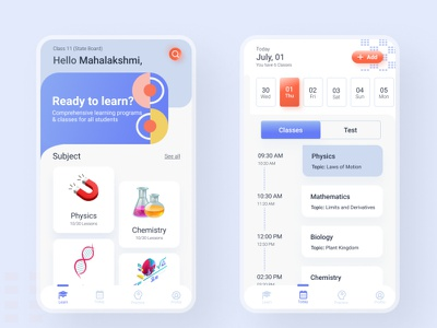 Learning App mockups minimalist onlinelearning elearning learningapp design uxui userinterface
